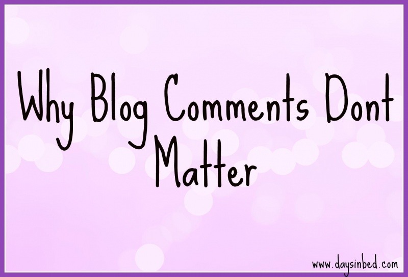 Why Blog Comments Don't Matter