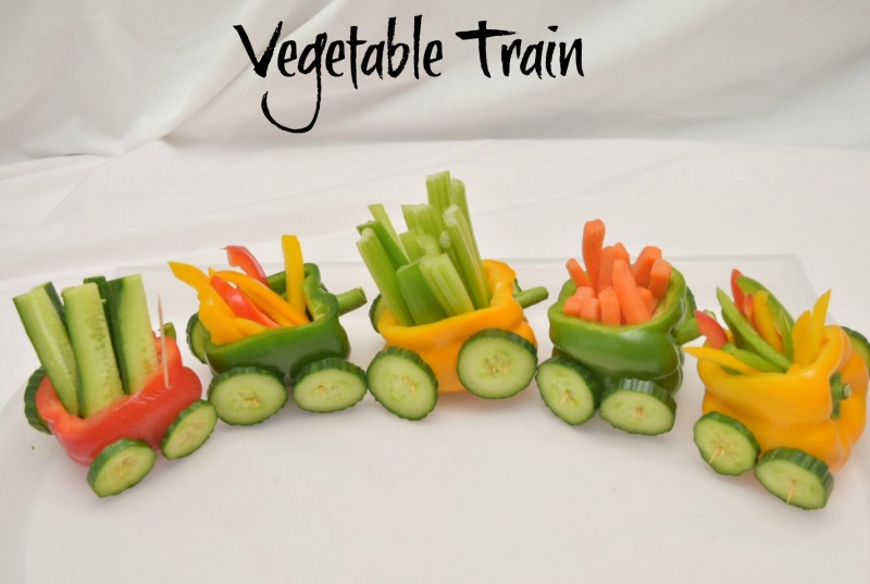 Vegetable Train A Fun Party Food Idea