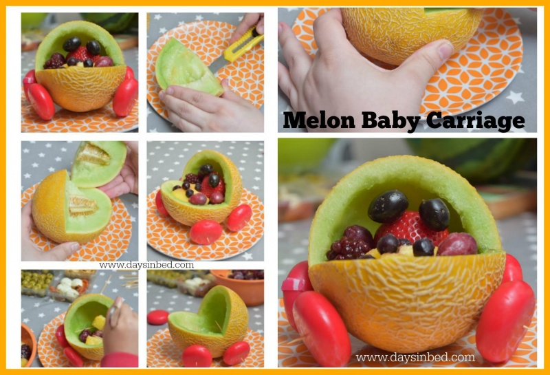 Melon Carving for A Baby Shower